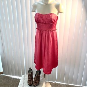 BCBGMaxAzria Pink Strapless Dress